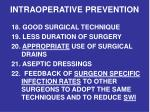 intraoperative prevention