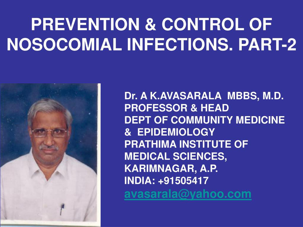 prevention control of nosocomial infections part 2 l.