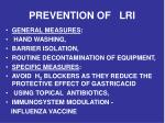 prevention of lri
