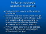 follicular mucinosis alopecia mucinosa