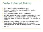 aerobic vs strength training