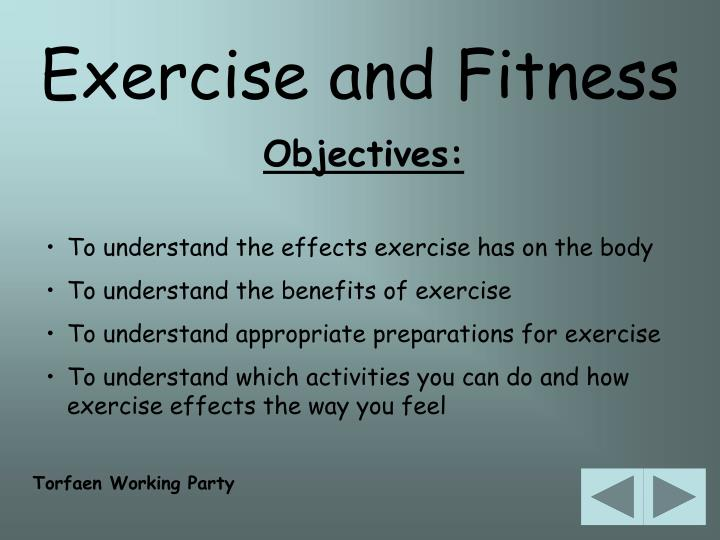 Exercise and Fitness