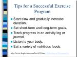 tips for a successful exercise program