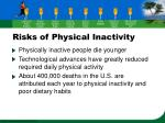 risks of physical inactivity