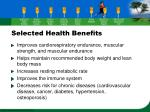 selected health benefits