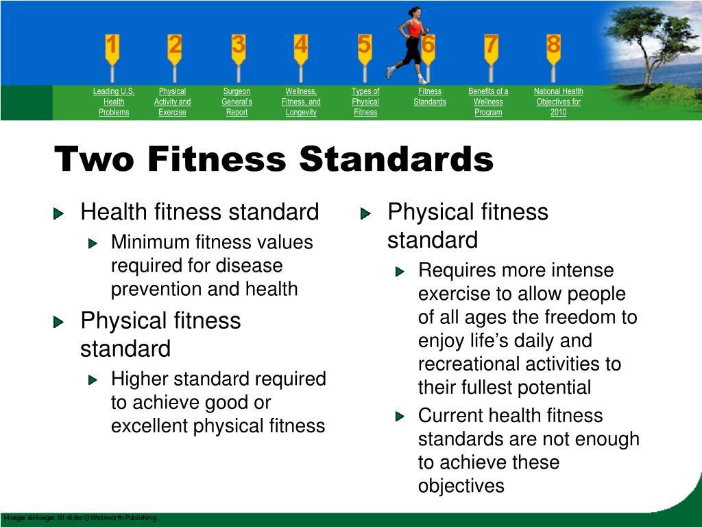 Health fitness standard