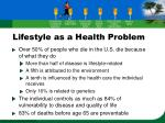 lifestyle as a health problem10