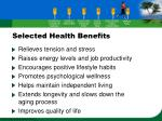 selected health benefits29