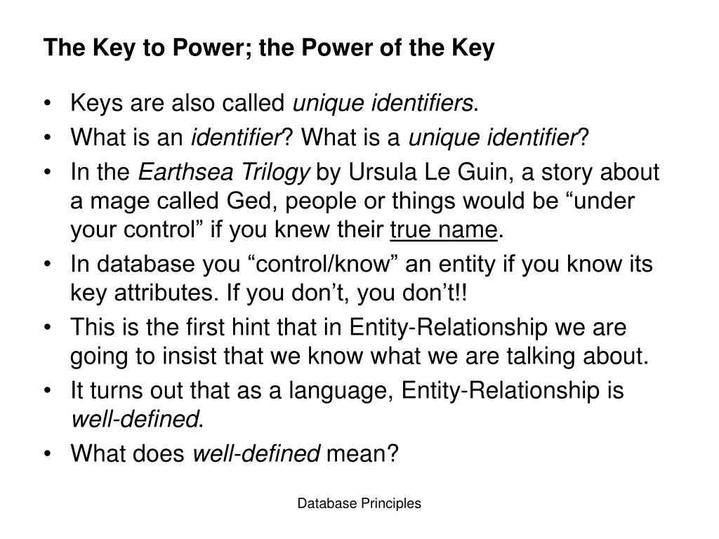 The Key to Power; the Power of the Key