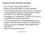 the key to power the power of the key