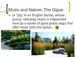 music and nature the gigue