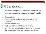 psc graduates