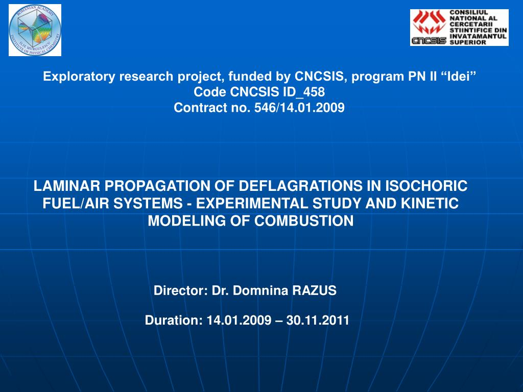 """Exploratory research project, funded by CNCSIS, program PN II """"Idei"""""""