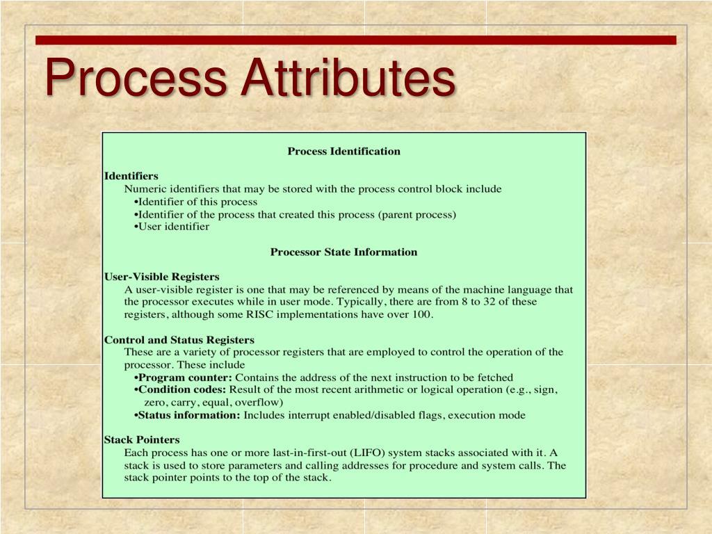 Process Attributes