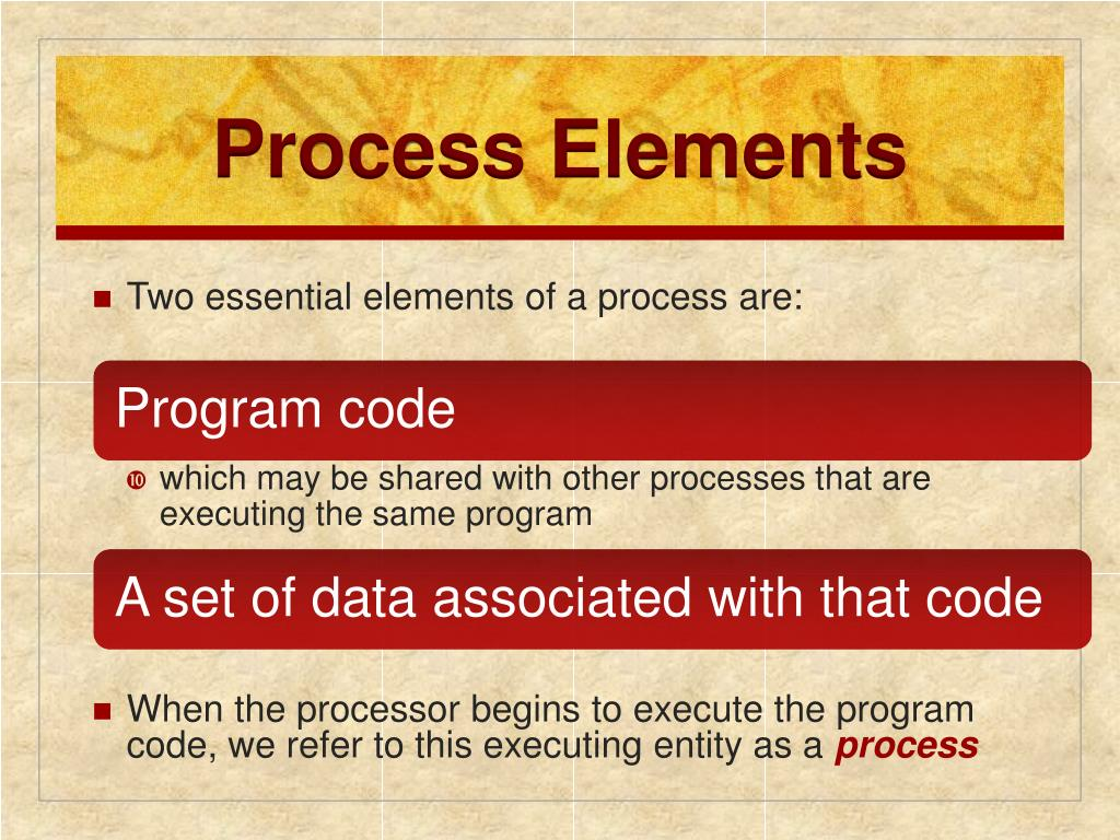 Process Elements