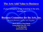 business committee for the arts inc17