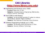 cmu libraries http www library cmu edu