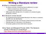 writing a literature review26