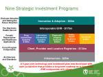 nine strategic investment programs