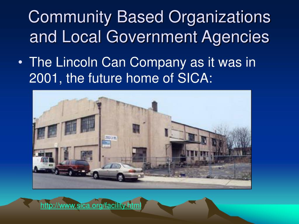 Community Based Organizations and Local Government Agencies