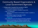 community based organizations local government agencies