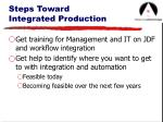 steps toward integrated production15