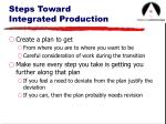 steps toward integrated production16