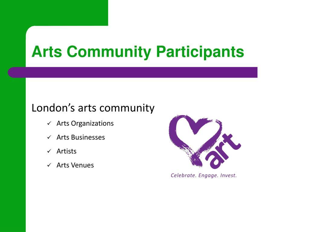 Arts Community Participants