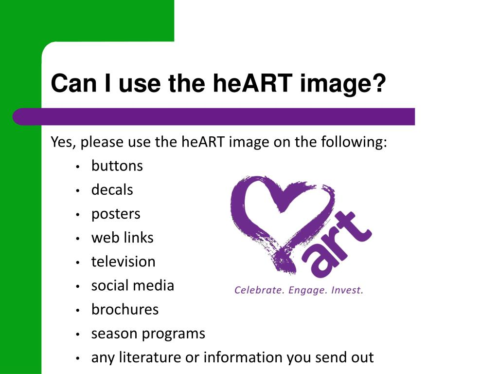 Can I use the heART image?