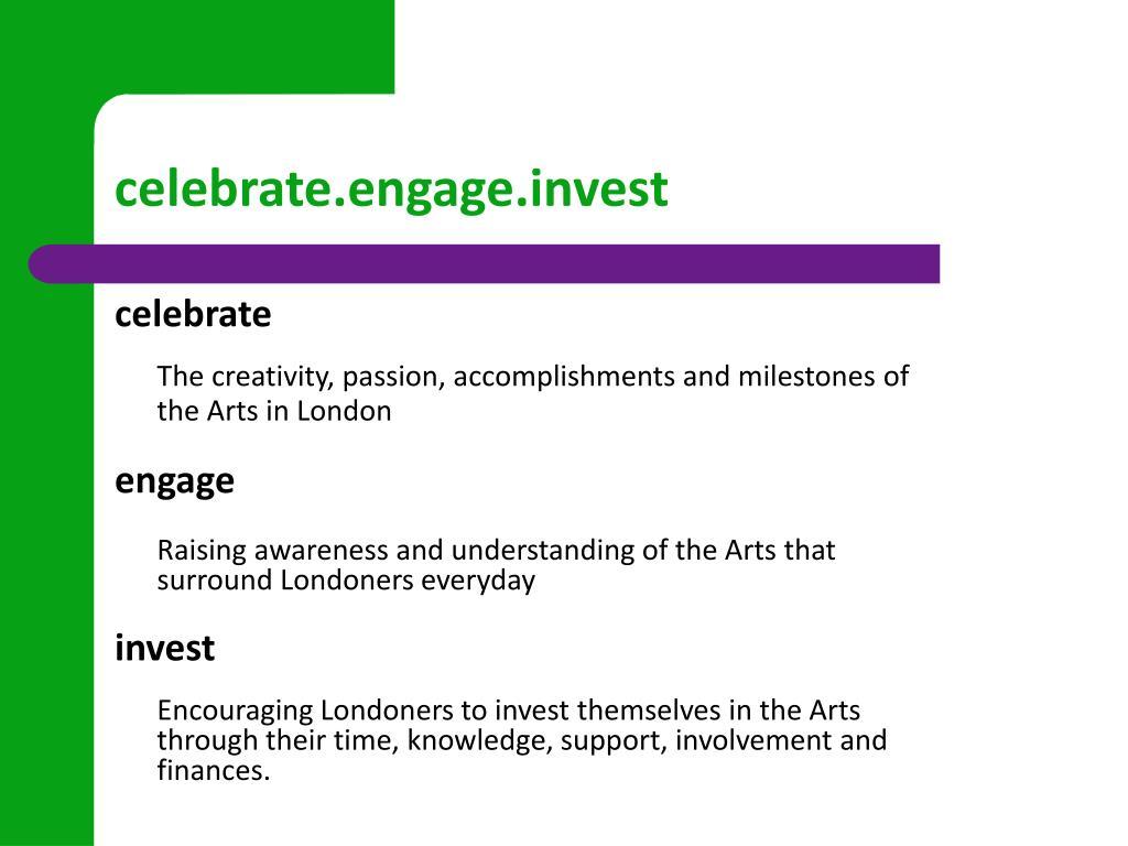 celebrate.engage.invest
