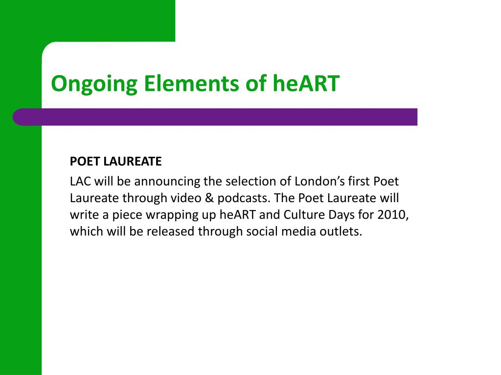 Ongoing Elements of heART