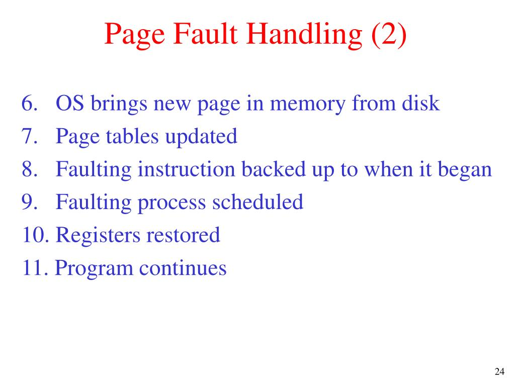 Page Fault Handling (2)