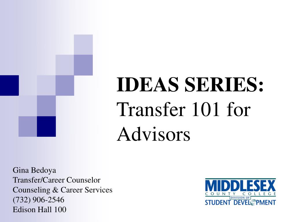 ideas series transfer 101 for advisors l.