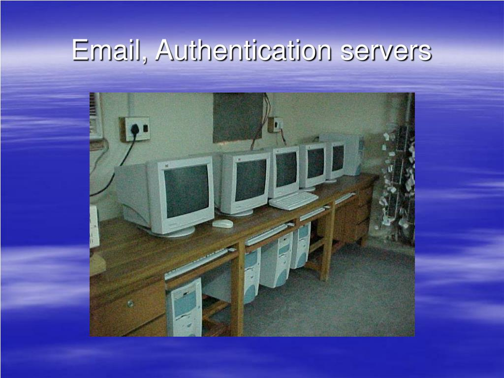 Email, Authentication servers