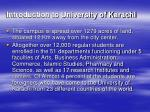 introduction to university of karachi