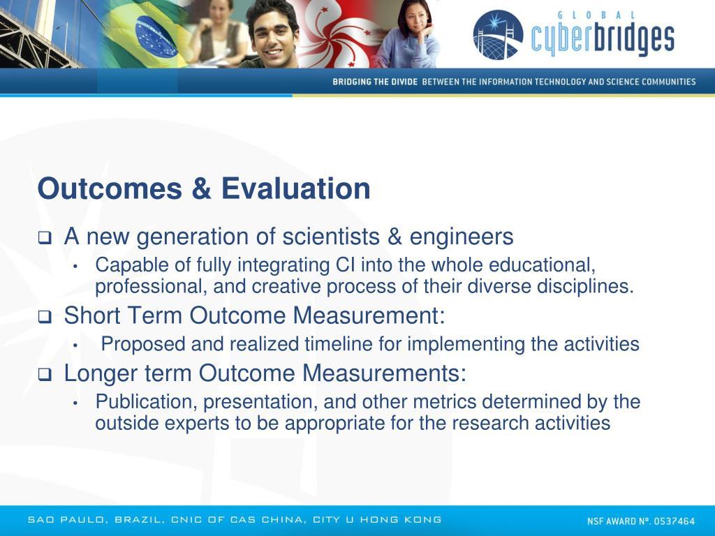 Outcomes & Evaluation