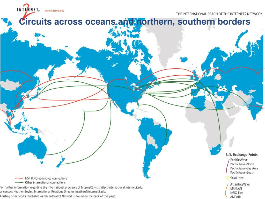 Circuits across oceans and northern, southern borders