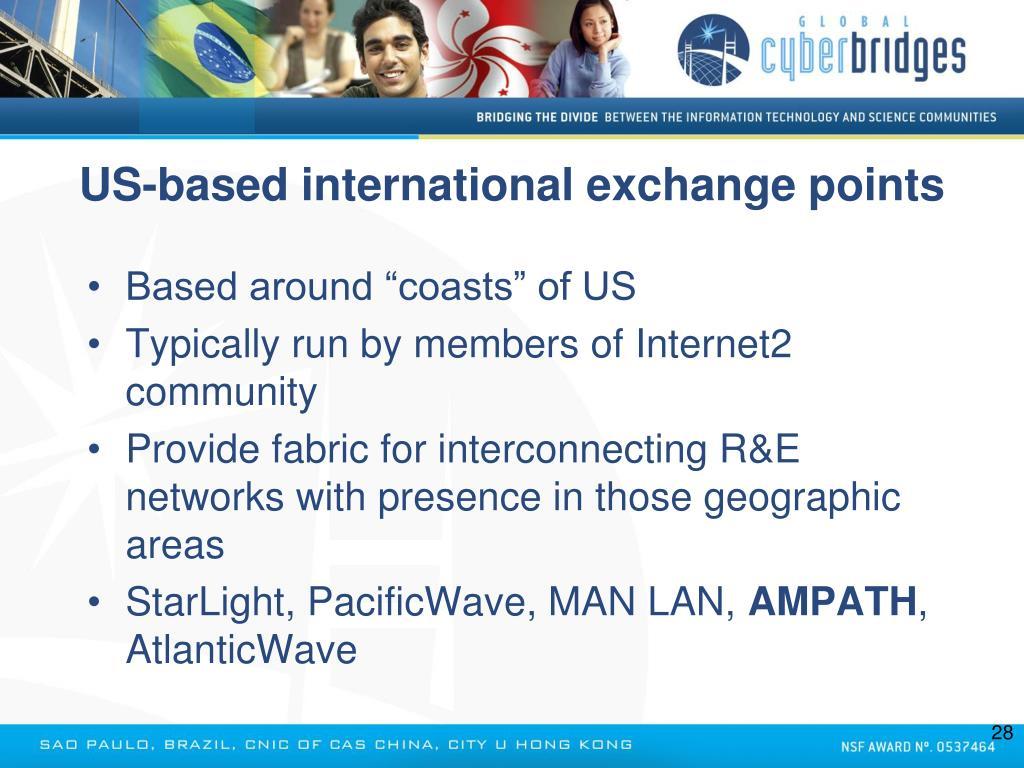 US-based international exchange points