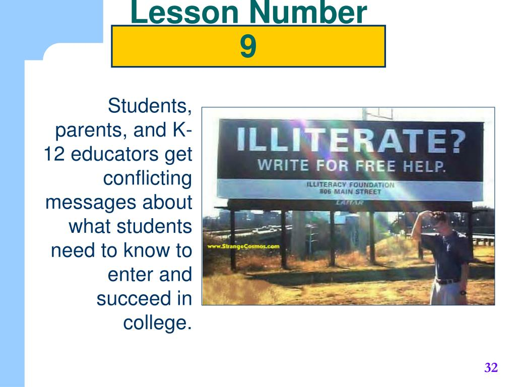 Lesson Number 9