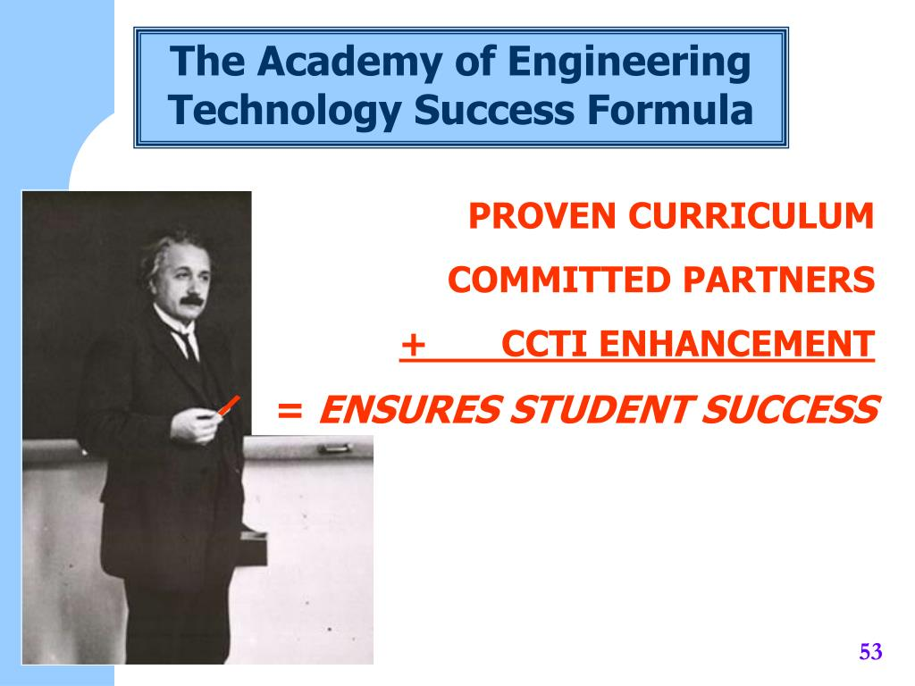 The Academy of Engineering Technology Success Formula