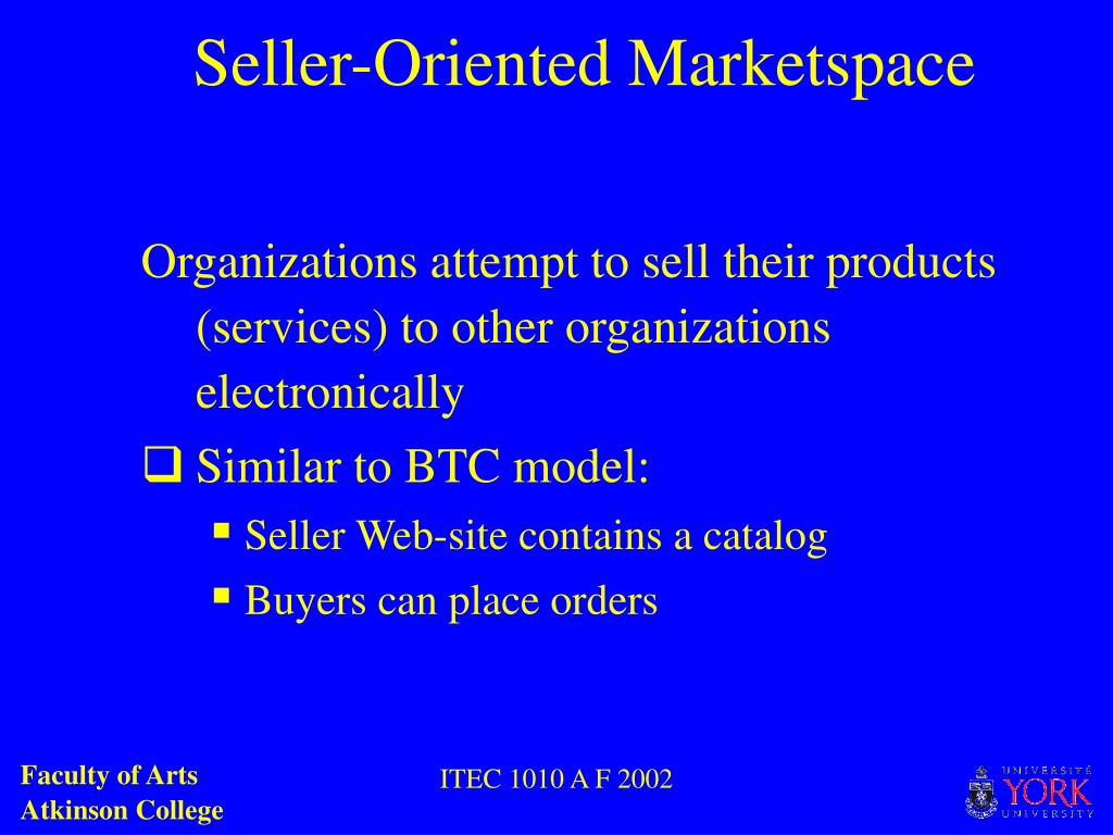 Seller-Oriented Marketspace