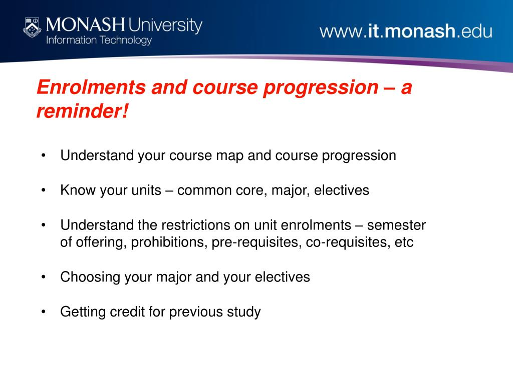 Enrolments and course progression – a reminder!