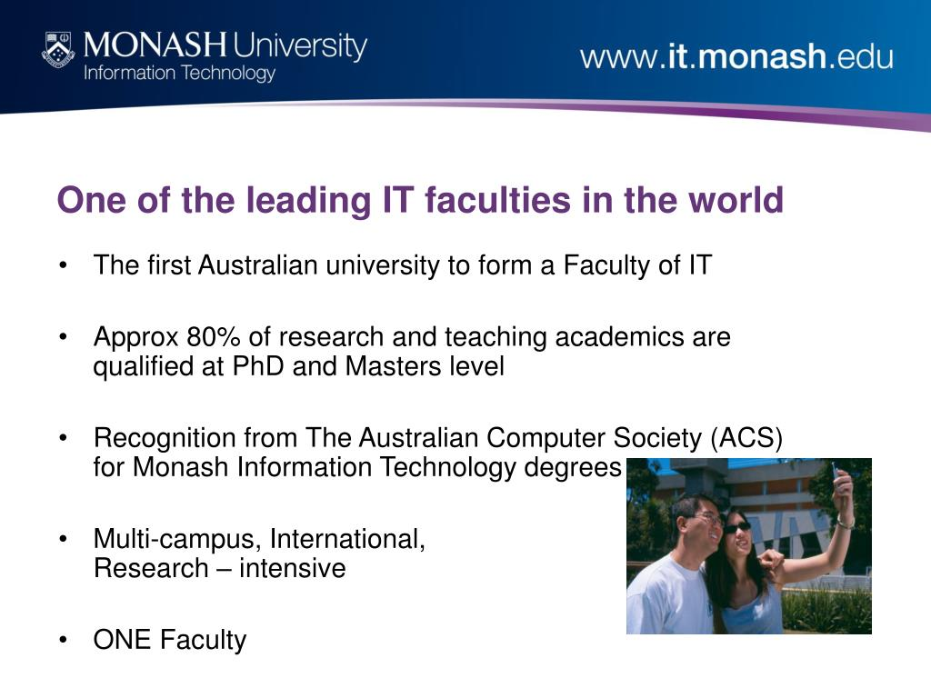 One of the leading IT faculties in the world