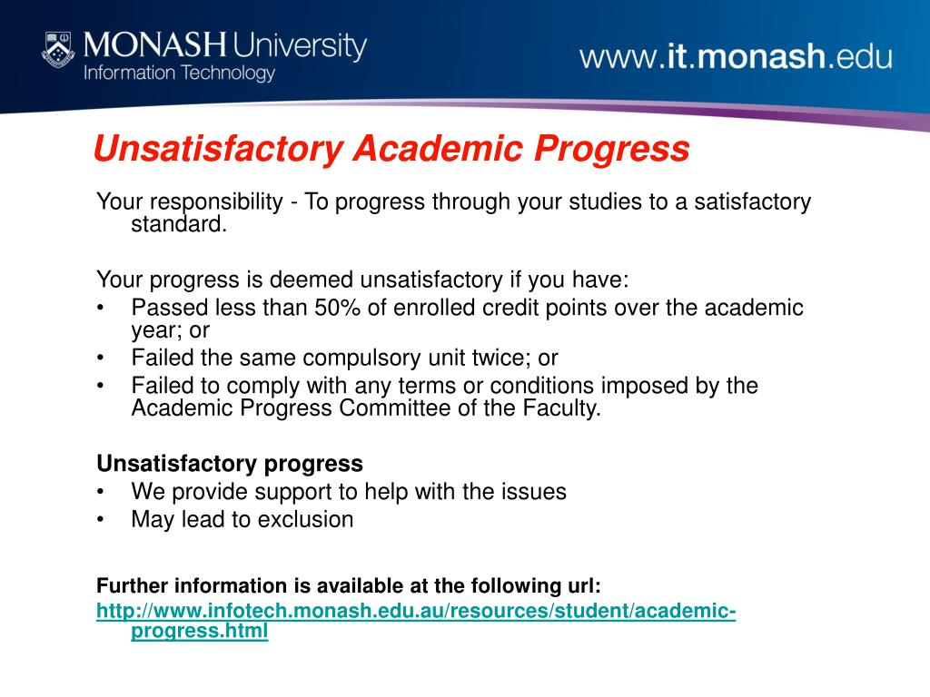 Unsatisfactory Academic Progress