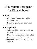 blau versus bergmann in kimmel book