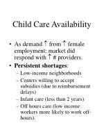 child care availability