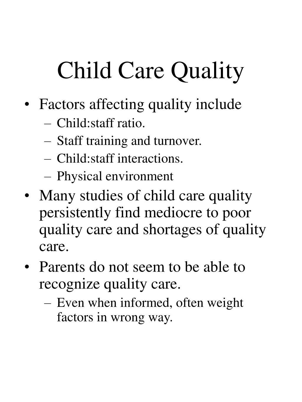 Child Care Quality