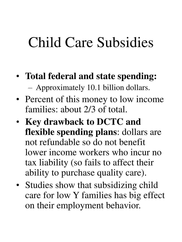 Child Care Subsidies