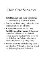 child care subsidies
