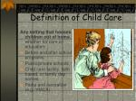 definition of child care